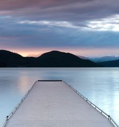 Take a moment to reflect on this dock in #Montana.