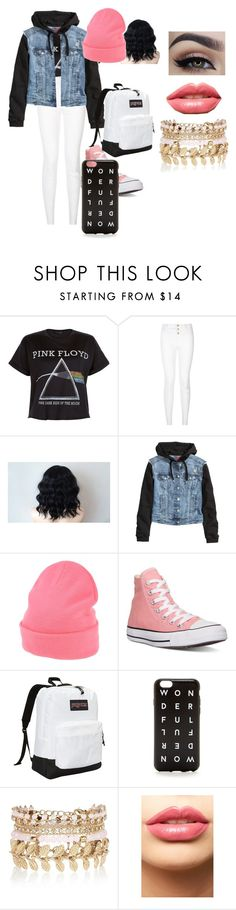 """""""Untitled #35"""" by forgetable on Polyvore featuring Floyd, H&M, Monki, Converse, JanSport, J.Crew, River Island, LASplash, women's clothing and women"""