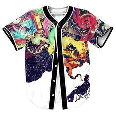 """Abstract Jazz"" 3D Baseball Jersey"