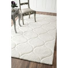 House of Hampton Kleiner Hand-Tufted White Area Rug & Reviews | Wayfair