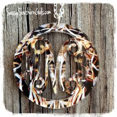 Acrylic Monogram Camo Necklace on www.SassySouthernGals.com   Monogrammed Necklace   Camouflage   Girls Hunt Too   Teen Christmas Gift   Monogram Gift   Shoot Like A Girl   This Babe Bags Bucks   Pretty In Pink Dangerous In Camo
