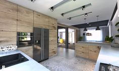 p/kuchn-ia - The world's most private search engine Kitchen Room Design, Modern Kitchen Design, Home Decor Kitchen, Interior Design Kitchen, Luxury Kitchens, Cool Kitchens, Kitchen Dining Living, Living Room, Wooden Kitchen