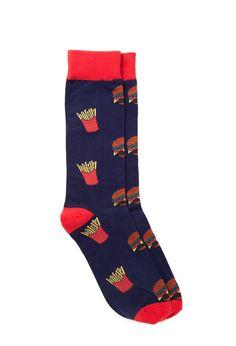 Burger & Fries Socks #21Men