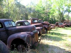 Old trucks talking about the good old days.
