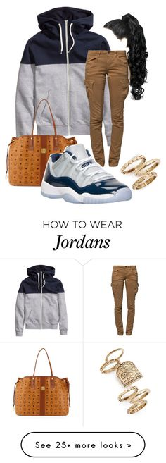 """""""Georgetown 11s"""" by zoelh178 on Polyvore featuring G-Star Raw, MCM, Retrò and Topshop"""