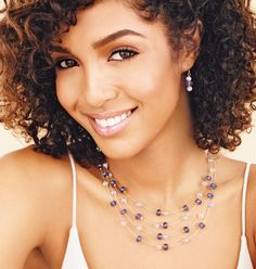 AVON - Beaded Illusion Necklace & Earring Gift Set-Sale $9.99