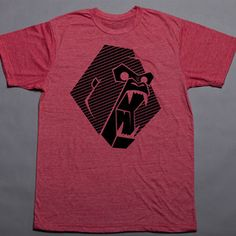 Gorilla Tee Men's Red now featured on Fab.