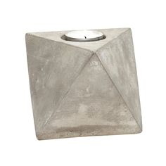 concrete geometric candle holder, life story