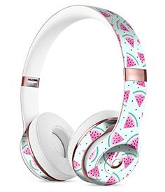 White Polka Dots Over Pink Watercolor Grunge Full-Body Skin Kit for the Beats by Dre Solo 3 Wireless Headphones Beats Studio Headphones, Cute Headphones, Sports Headphones, Bluetooth Headphones, Shoe Lacing Techniques, Noise Reduction Headphones, Things Under A Microscope, Beats By Dre, Things To Buy
