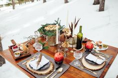 Magical Bohemian Winter Wonderland Styled Shoot