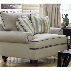 Paula Deen By Universal Paula Deen Home Traditional Upholstered Chair With  Turned Wood Legs   Knoxville Wholesale Furniture   Upholstered Ch.