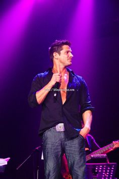 Jeff Timmons of the boyband 98 Degrees during the a1, Jeff Timmons and Blue concert. February 2012, Manila, Philippines. I was part of the production.