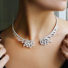Fancy - Lace Diamond Choker by Joelle Jewellery