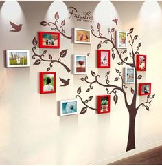 Unique family tree photo frame and decal Color indicates the family photo frame color, you chose sin Best Photo Frames, Family Photo Frames, Family Photos, Picture Frames, Family Tree Photo, Family Tree Wall, Family Trees, Family Room, Tree Wall Murals