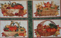 Beauty of Autumn, South Sea Import, Panel. $4.50, via Etsy.