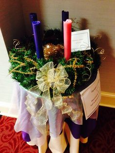 TABLESCAPE: Holiness Table Advent Wreath By Julie Tekautz