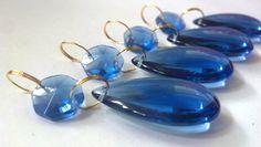 smooth blue teardrop crystals