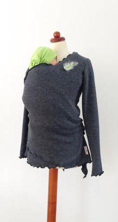 Angel Wings Babywearing Warm Wrap Sweater - Little Zen One - 3