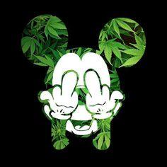"Mickey""ohana"" Weed Wallpaper, Wallpaper Iphone Cute, Cartoon Wallpaper, Mickey Mouse Wallpaper, Mickey Mouse Kunst, Mickey Mouse Drawings, Dope Cartoon Art, Cartoon Kunst, Dope Wallpapers"