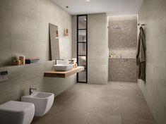 MODERNÁ KÚPEĽŇA - Trendové obklady do kúpeľne / BENEVA Wall Cladding Tiles, Wall Tiles, Neutral Bathroom, Modern Bathroom, Engineered Timber Flooring, Limestone Tile, Tile Floor, Minimalist, Indoor