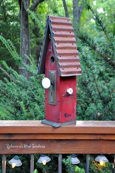 "Rustic Birdhouse ~ ""The Loft"" on Etsy, Rebecca's Bird Gardens"