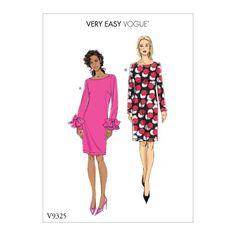 Patron Vogue 9076 Robes cintrées manches longues Bishop