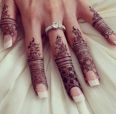 Intricate henna design, bridal Mehndi design for an Indian wedding