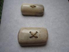 2 Deer Antler Buttons- Handmade Antler Buttons