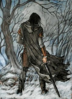 """Túrin Turambar """"""""And the orcs fled before his face"""" (The Children of Hurin - J.R.R. Tolkien)"""