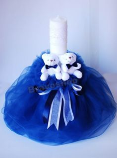 Resultado de imagen de lumanari botez baiat Candles, Weddings, Christmas Ornaments, Decoration, Holiday Decor, Kids, Bebe, Decor, Young Children