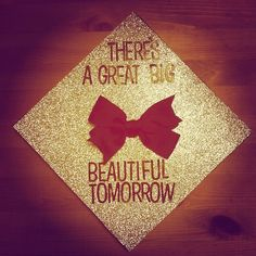 True. And I love that the top of this graduation cap has a Disney/Carousel of Progress lyric on top.