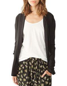 Alternative Open-Front Knit Cardigan Women's Eco True X-Small