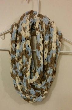 Finger tip crochet scarf