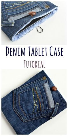 Hardwearing jeans make a great recycled denim tablet case. Make your own case for your tablet with this step by step tutorial.