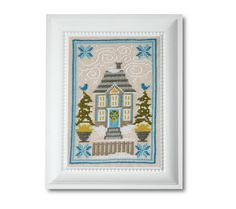 Winter House Cross Stitch Pattern Instant от tinymodernist на Etsy