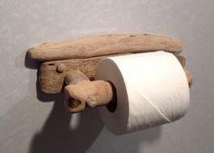 Driftwood toilet roll holder Art. Sculpture by COASTLINECRAFTS