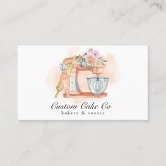 Bakery Business Cards, Business Card Size, Foods Without Sugar, Cake & Co, Bakery Cakes, Custom Cakes, Paper Texture, Mixer, Things To Come