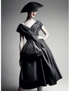 "Christian Dior Fall 1956 ""Delphine"" dress 