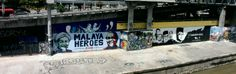 Some street art at Pasar Seni Station. Kuala Lumpur, Malaysia.