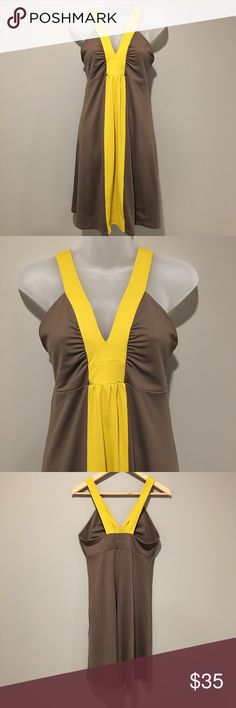 Patagonia color block sundress Size M Patagonia color block sundress. Size M - no visible sins of wear. Yellow and brown. Patagonia Dresses