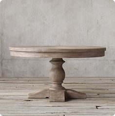 Refinished Dining Table in Weathered Gray