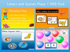 Letters and Sounds Phase 1 IWB Games Letter Sound Activities, Learning Letters, Phonics Lessons, Phonics Activities, Phase 1 Phonics, Synthetic Phonics, Teaching Packs, What Rhymes