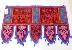 Toran Door Valance Embroidery Hanging Window Indian Patchwork Topper Decor DX2 #Handmade