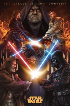 Star Wars: Episode III - Revenge of the Sith [Poster, 1 of 155 high-resolution movie posters in this group. Anakin Vs Obi Wan, Anakin Vader, Darth Vader, Anakin Skywalker, Star Wars Jedi, Star Trek, Images Star Wars, Star Wars Pictures, Star Ears