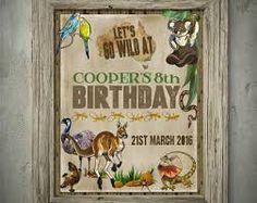 Australian animals birthday invitation instant download image result for bday invitations australian outback filmwisefo