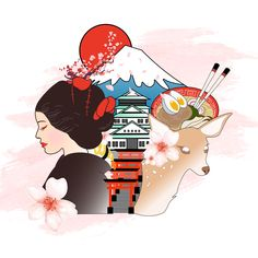 Illustrated on Adobe Illustrator and gathered inspiration from numerous pins Japan Graphic Design, Tokyo 2020, Adobe Illustrator, Stickers, Illustration, Inspiration, Biblical Inspiration, Japanese Graphic Design, Illustrations