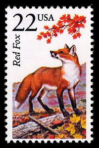 22c Red Fox single