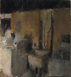 Laundry, oil on board/ cathrin m