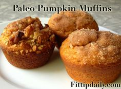 It's easy, low carb, and gluten free! Paleo Recipe – Pumpkin Muffins 1 c almond meal or flour … Paleo Dessert, Low Carb Desserts, Healthy Sweets, Healthy Breads, Apple Desserts, Healthy Food, Healthy Eating, Paleo Pumpkin Muffins, Pumpkin Muffin Recipes