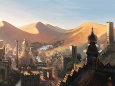 City in the desert by Rhynn.deviantart.com on @deviantART